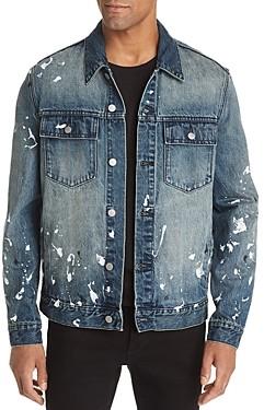 Wesc Paint Splatter Regular Fit Denim Jacket