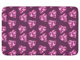 uneekee Floral Hearts Bathroom Rugs: Incrediby Soft Memory Foam Spa Quality
