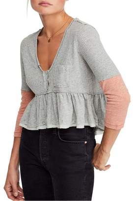 Free People Heart of Mine Colorblock Cotton Top