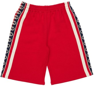 Gucci Cotton Sweat Shorts W/ Logo Bands