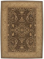 Nourison HE05-099446038319 Heritage Hall (HE05) Brown Rectangle Area Rug