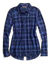 Tommy Hilfiger Women's Lurex Plaid Shirt