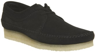 Clarks Weaver Shoes Black Suede New