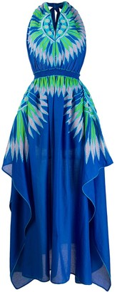 Emilio Pucci Abstract-Print Scarf Hem Dress