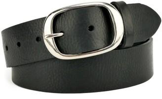 "Village Leathers Classic 1 1/2"" Black Leather Belt"