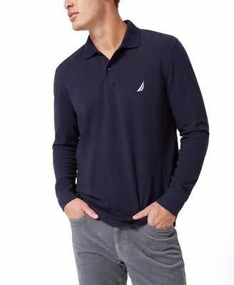 Nautica Men's Classic-Fit Long Sleeve Polo