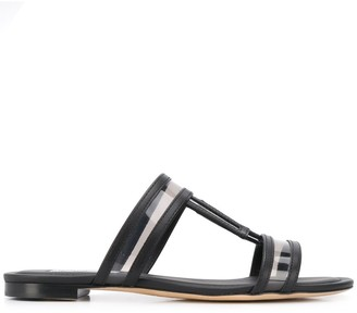 Tod's Flat Leather Sandals