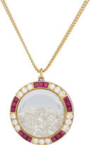 "Renee Lewis Women's Diamond, Ruby & Gold ""Shake"" Pendant Necklace"