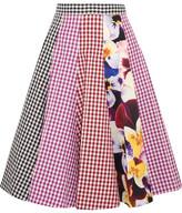 Christopher Kane Gingham Cotton-twill Midi Skirt - IT46