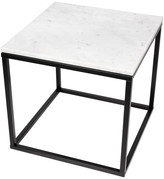 """Temahome Prairie 20""""x20"""" End Table With Marble Top"""