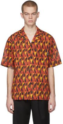 Palm Angels Multicolor Flames Bowling Shirt