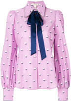 Marc Jacobs rose fill tie neck blouse