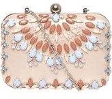 Dorothy Perkins Womens Blush Jewel Box Clutch- Pink