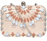 Dorothy Perkins Womens Blush Jewel Box Clutch
