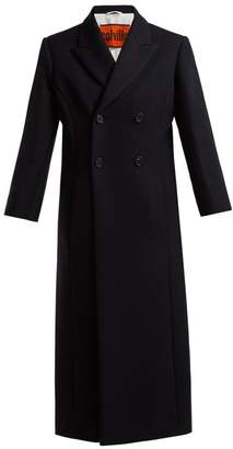 Colville - Double-breasted Wool-blend Coat - Womens - Navy