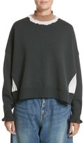 Undercover Women's Ruffled Mock Neck Sweater
