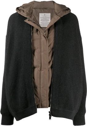 Brunello Cucinelli Layered Ribbed Jacket