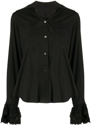 Romeo Gigli Pre-Owned 1990s Macrame Detailed Shirt