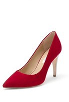 Anette Suede 90MM Pump In Crimson Red Suede
