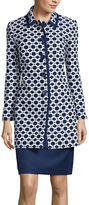 Isabella Collection Long-Sleeve Jacquard Jacket and Skirt Suit Set