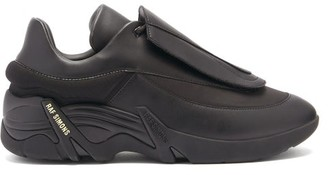Raf Simons Antei Exaggerated-sole Leather Trainers - Black