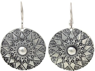 """Novica Artisan Crafted Sterling """"Floral Sheild""""Earrings"""