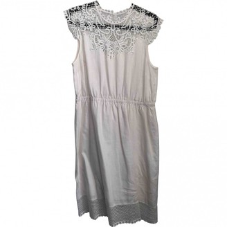 Hobbs White Cotton Dress for Women
