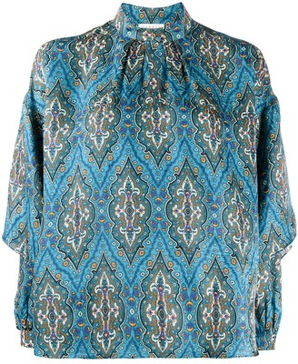 Sandro Paris Abstract Print Blouse