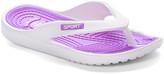 Star Bay Women's Flip-Flops Purple - Purple Contrast-Stitch Flip-Flop - Women