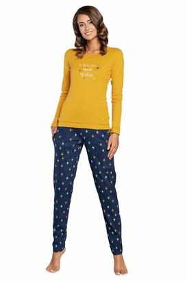 Italian Fashion Women's Pyjamas Long Pyjama Set | Sleepwear Lounge Suit Long Sleeve Round Neck 2-Piece Sleepwear Model 2020 - - XX-Large