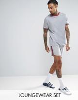 Asos Pajama Set With Contrast Piping