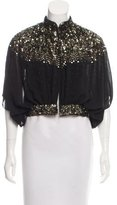 Gryphon Embellished Crop Jacket