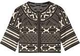 Lela Rose Embroidered Tulle Jacket