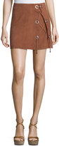 LaMarque Scholastica Lace-Up Suede Skirt, Orange
