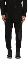 Y-3 Black Wool Jersey Cuffed Lounge Pants