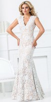 Tony Bowls Le Gala Embellished Lace Open Back Evening Dress