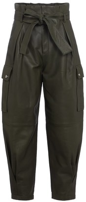 RED Valentino leather paperbag pants