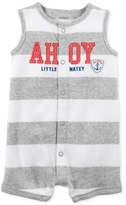 Carter's Striped Ahoy Little Matey Cotton Creeper, Baby Boys (0-24 months)