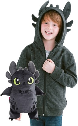 Dragon Optical Cubcoats x DreamWorks® How to Train Your TM) Toothless 2-in-1 Stuffed Animal Hoodie