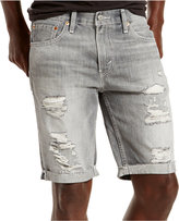 Levi's Men's 511 Slim-Fit Goodlands Grey Cutoff Ripped Jean Shorts