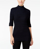 Style&Co. Style & Co. Petite Marled Mock-Neck Sweater, Only at Macy's