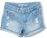 DKNY Light Vintage Ripped Backing Shorts - Girls