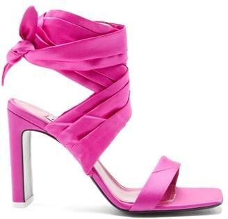 ATTICO Paris Ankle-tie Satin Sandals - Pink