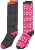 Cuddl Duds Girls 4-16 2-pk Fairisle Knee-High Socks