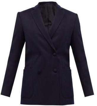 Officine Generale Mathilde Double-breasted Wool-flannel Suit Jacket - Navy