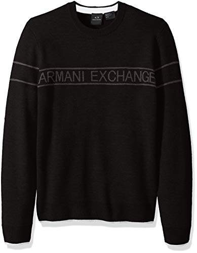 Armani Exchange A|X Men's Band Pullover Crewneck Sweater