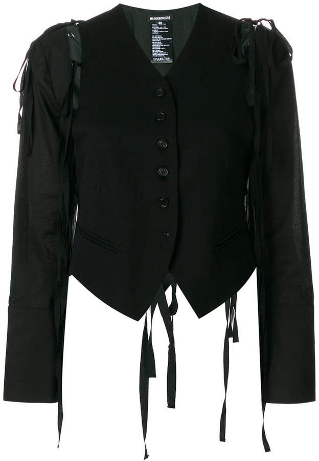 Ann Demeulemeester strap detail cropped jacket