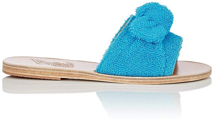 Ancient Greek Sandals Women's Taygete Bow Terry Slide Sandals