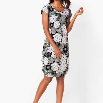 Talbots Tropical Floral Open-Back Dress