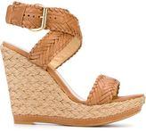 Stuart Weitzman 'Elixir' woven wedge sandal